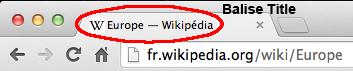 balise title page Europe Wikipedia