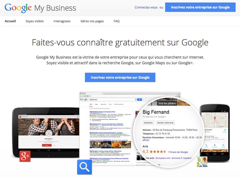 [illustration : page Google My Business]