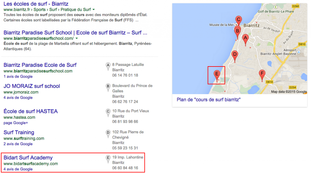 [illustration : référencement local par Google Maps]