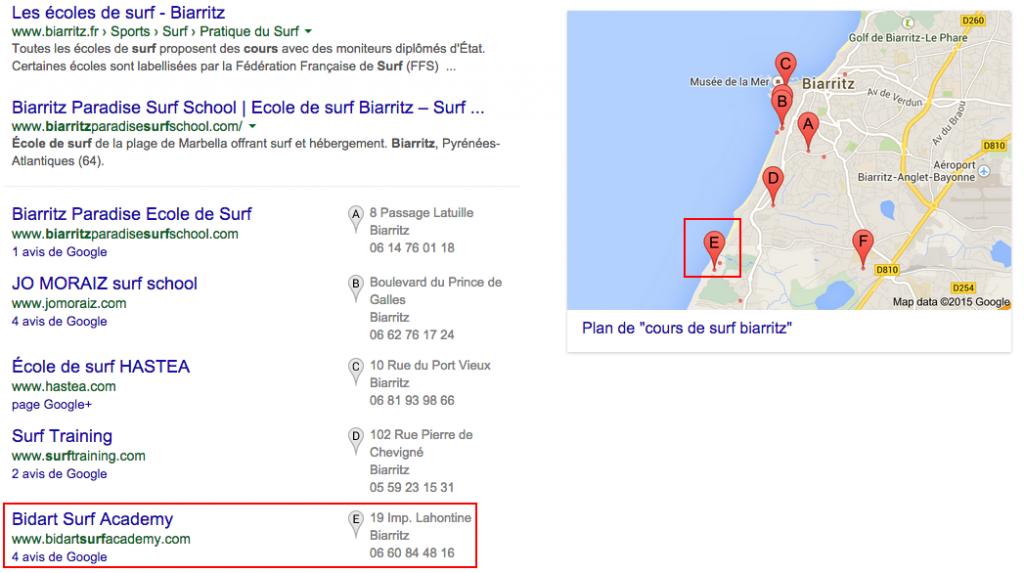 [illustration : référencement local par Google Maps]