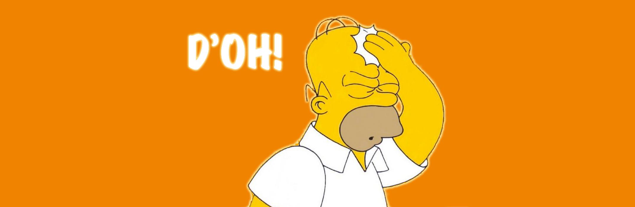 illustration omer simpson doh!