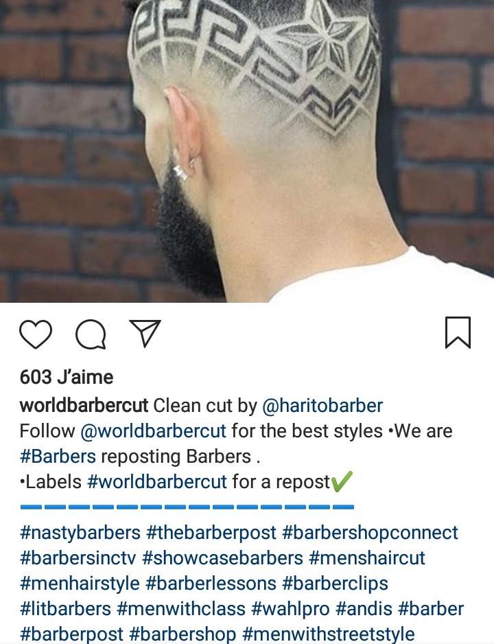 hashtags #barbershop